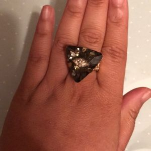 Jewelry - Large Smokey quartz eye ring